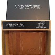 Nwt Men's Marc New York Leather Credit Card Case Id Wallet Gift Boxed Rp 50 Photo