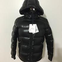 Nwt Men's Moncler Maya Lacquered Down Jacket Size 1 Small Black Photo