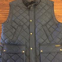 Nwt Men's Polo Ralph Lauren Hagan Barn Quilted Vest Coat Jacket Navy 225.00 Xl Photo