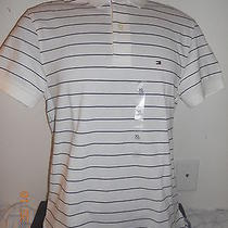 Nwt Men's Tommy Hilfiger Stripe Polo Shirt Size L New Photo