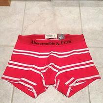 Nwt Mens Abercrombie & Fitch Boxer Briefs Underwear Red and White Striped Size M Photo
