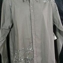 Nwt Mens Billabong Xl Long Sleeve Button Front Brown Striped Shirt New (52) Photo