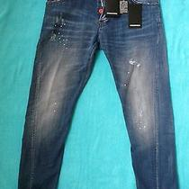Nwt Mens Dsquared2 Blue Sexy Twist Jeans Made in Italy W-36 (50) 570.00 Photo