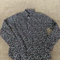 Nwt Mens Express Black Pink Blue Floral Slim Button Down Dress Shirt Medium Photo