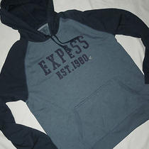 Nwt Mens Express  Hooded Hoodie  Sweatshirt    Xl   Blue  Photo