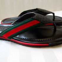 Nwt Mens Gucci Sl 73 Beach Flip Flops Sandals Size 8.5 350 Photo
