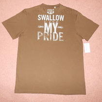 Nwt Mens Guess Brown Swallow My Pride Tshirt Large Photo