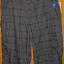 Nwt Mens Guys American Rag Gray Plaid Hudson Shorts 32 Photo
