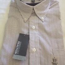 Nwt Mens Kenneth Cole Long Sleeve Dress Shirt Size 16 Tuscan Red New Photo