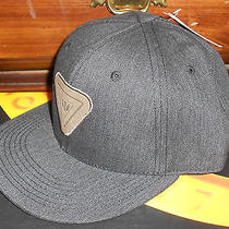 Nwt Mens Levis Black Snapback Bill Leather Logo Baseball Hat Cap One Size Photo