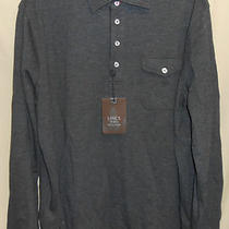 Nwt Mens Lincs Dc & Co Dark Heather L/s Size Large Polo Shirt Photo