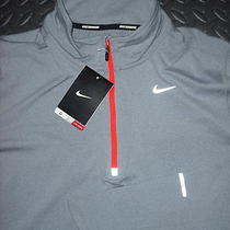 Nwt Mens Nike Element Half-Zip Running L/s Shirt Gray (Xl) Style  504606 Photo