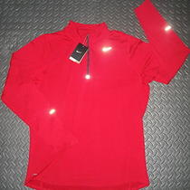 Nwt Mens Nike Pullover Element Half-Zip Running L/s Shirt Red (L) Style  504606 Photo