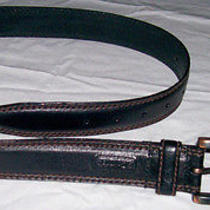 Nwt Mens S 30/32 Columbia Black Genuine Leather Belt Exceptional Quality Photo