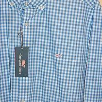 Nwt Mens Vineyard Vines Slim Fit Tucker Hightide Gingham Cornflower Shirt Sz Xxl Photo