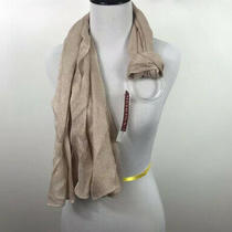 Nwt Merona Blush Pink/beige Sparkly Scarf Photo