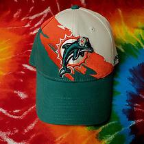 Nwt Miami Dolphins Scarce Reebok Nfl Design Embroidered Logo Ball Cap Hat  Photo