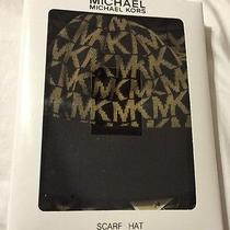 Nwt Michael Kors 2 Piece Hat and Scarf Set in Gift Box Photo