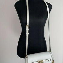 Nwt Michael Kors Addison Leather Small Messenger Vanila Crossboby Bag Photo