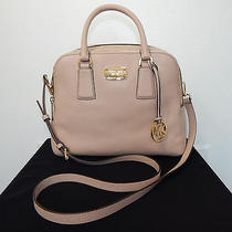 Nwt Michael Kors Alexis Md Satchel Blush Leather  Nwt 368.00 New Mk Pink Nude Photo