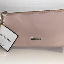 Nwt Michael Kors Beige Pink Blush Clutch Purse Bag-Free Shipping Photo