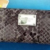 Nwt Michael Kors Electronics Multi Funt Leather Large Gray Iphone Wristlet Rp118 Photo