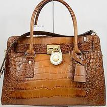 Nwt Michael Kors Halmilton East West Croc Leather Satchel Shoulder Bag Luggage Photo