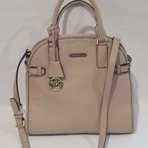 Nwt Michael Kors Hutton Large Dome Blush Leather Satchel Handbag Photo