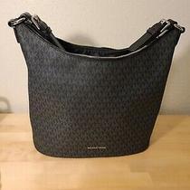 Nwt Michael Kors Lupita Large Signature Convertible Hobo / Shoulder Bag in Black Photo