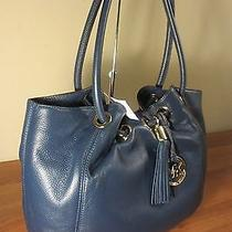 Nwt Michael Kors Ring Tote Shoulder Bag Navy Msrp   258 Photo