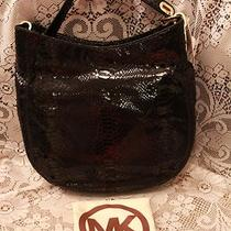 Nwt Michael Kors Signature Fulton Chain Hobo Purse Bag Python Snake Black 298 Photo