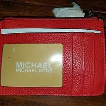 Nwt Michael Kors Sm Coin Purse Red Photo