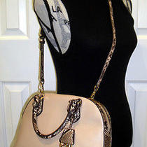 Nwt Michael Kors Smythe Large Blush Snake Dome Satchel 398 Photo
