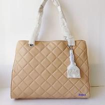 Nwt Michael Kors Susannah Quilted Large Tote  Blush / Silver Photo