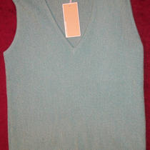 Nwt Michael Kors Women Aqua Wool Sweater Tank Top S 325 New Photo