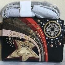 Nwt Michael Michael Kors Selma Embellished Medium Leather Messenger Bag 298  Photo