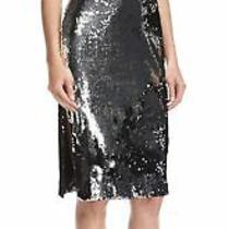 Nwt Milly Silver Black Camilla Sequin Dress Sz 2 Photo