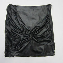 Nwt Minkpink Nordstrom Black Skirt Wrap Detail on Front Club Party Skirt Sz M Photo