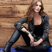 Nwt Missoni Faux Leather Skinny Legs Leggings Stretch Pants Black Color Size 38 Photo