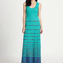 Nwt Missoni Maxi Dress Gown Zigzag Aqua Blue Gorgeous 48 12 14 Xl Photo
