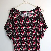 Nwt Missoni Multi-Color Raindrop Pattern Open Shoulder Top T-Shirt Size Xs Photo