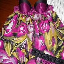 Nwt Missoni Purple Floral Babydoll Nightie With Matching Thong Sz S Photo