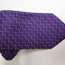 Nwt Missoni Purple Zigzag Tie Retails 135 Photo
