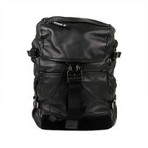 Nwt Moncler Black Leather Rhone Buckle Backpack 1375 Photo