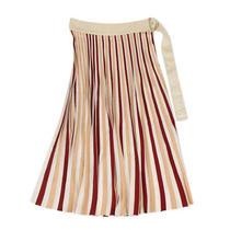 Nwt Moncler Ivory Striped Midi Skirt Size S 1020 Photo