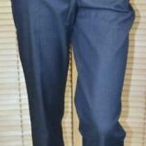 Nwt Moschino Cheap & Chic Blue Denim Cotton Blend Pants Size 42 Us 8 Photo