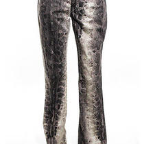Nwt Moschino Jeans Brown Snakeskin Print Jeans Sz 31 149 Photo