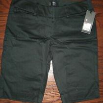 Nwt Mossimo Black Cotton Stretch Classic Bermuda Shorts Size 4 Photo