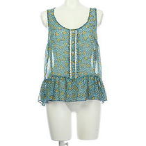 Nwt Mossimo Chiffon Floral Print Tops See-Through S/p Photo