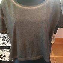 Nwt Mossimo Cropped Heathered Junior's Army Green Tee Size L Photo